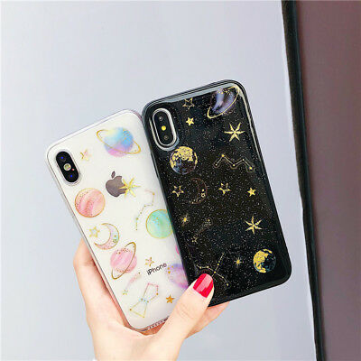 Pattern Ultra Slim Rubber Soft TPU Silicone Back Case Cover for iPhone X 8 7 6
