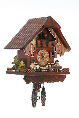 German Cuckoo Clock Quartz-movement Chalet-Style 34cm by Cuckoo-Palace