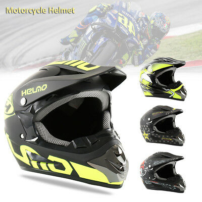 DOT Flip up Modular Full Face Motorcycle Helmet Dual Visor Motocross Size CA