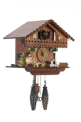 German Cuckoo Clock Quartz-movement Chalet-Style 22cm by Cuckoo-Palace