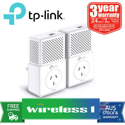 All NEW TP-Link TL-PA7010P KIT AV1000 Gigabit Passthrough Powerline Starter Kit