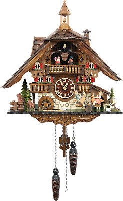 German Cuckoo Clock Quartz-movement Chalet-Style 42cm by Cuckoo-Palace