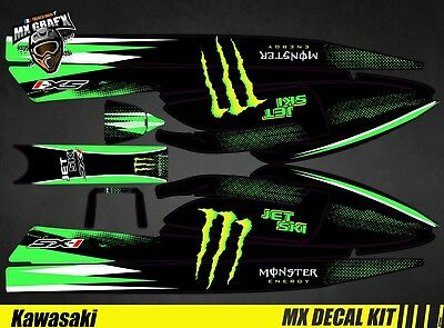 Kit Déco pour / Decal Kit for Jet Ski Kawasaki 750 Sx Sxr Sxi - Monster