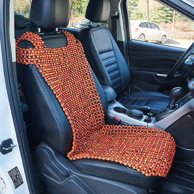 1x Wooden Beaded Car Taxi Front Seat Cover Chair Cushion Massage Protective Mat