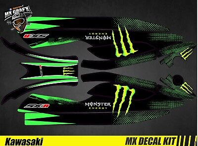 Kit Déco pour / Decal Kit for Jet Ski Kawasaki 800 Sxr - Monster