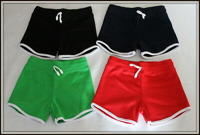 Girls & Boys Short Over-Knee Sport School Shorts Pants Active 1 - 14 Yrs PE Gym