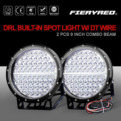 23 inch LED Work Light Bar Combo Beam 5D Offroad Driving Lamps w/ DT Wiring Kit