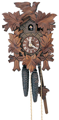 German Cuckoo Clock 1-day-movement Carved-Style 23cm by Anton Schneider