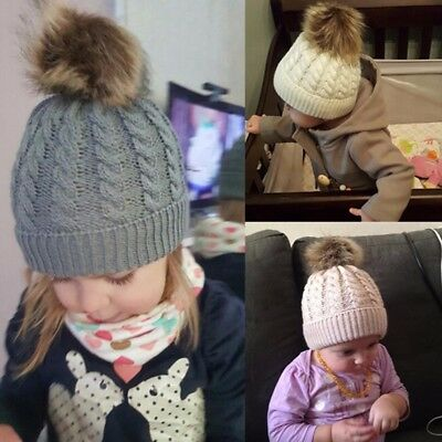 Cute Toddler Kids Girl&Boy Baby Infant Winter Warm Crochet Knit Hat Wool Cap New