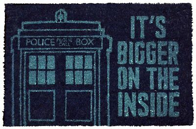 Doctor Who Official Tardis 'It's Bigger on the Inside' Doormat Dr Who Door Mat