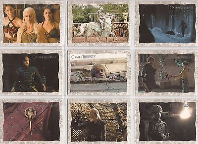 """Game of Thrones Season 2 - SB1-20 """"Storyboard Art"""" Set of 20 Chase Cards"""