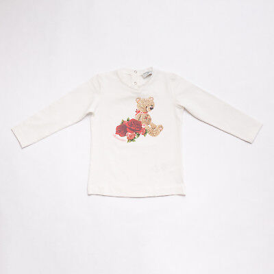 "T-Shirt Whte Bear Love Girlkids (12M) ""monnalisa"" 392605So F/w 2018 [-50%]"