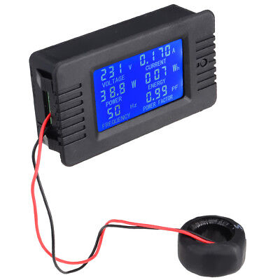 New 6 in 1 AC80-260V/100A Voltmeter Ammeter Power Factor Energy Frequency Meter