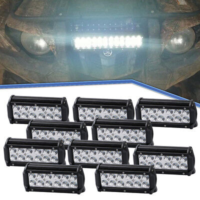 10Pcs 7inch 36W LED Driving Light Bar Spotlight Work Offroad Light For Truck UTV