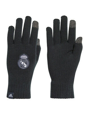 Real Madrid Adidas Gants hiver mode Laine Touchscreen Unisexe Blue
