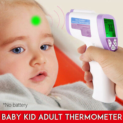 Body Skin Digital Non-contact Infrared IR Thermometer For Baby Kids Adult  US