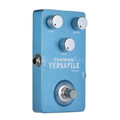 Hot Electric Guitar Analog Chorus Effect Pedal True Bypass Metal Shell Mini F7V1