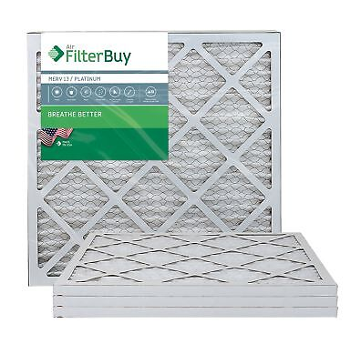 FilterBuy 20x20x1 MERV 13 Pleated AC Furnace Air Filter, (Pack of 4 Filters),