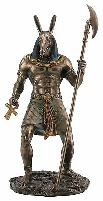 Resin Statues Ancient Egyptian Jackal God Anubis Bronze Finished Statue 5 X 10 X