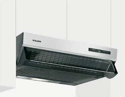 Glem GHL600IX Semi built-in (pull out) Stainless steel 200m³/h D cooker hood - C