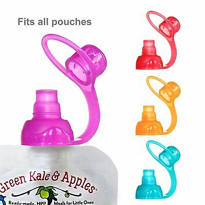 ChooMee Sip'n Soft Top with Flow Control and Cap for Baby Food Pouch Feeding
