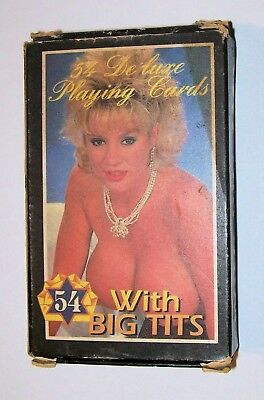 Vintage 54 pin up nude playing cards for poker #3 1980s