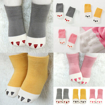 Kids Toddler Baby Girls Boys Ankle Socks Thick Mini Paw Winter Warm Cotton Cute
