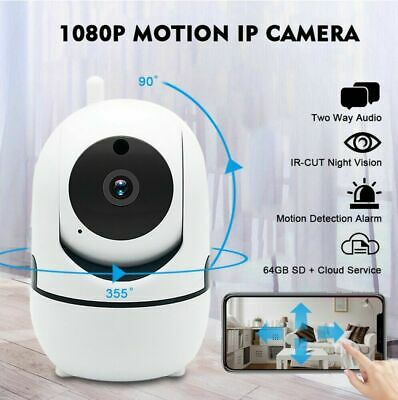 Wireless WiFi HD 720P Security Network CCTV IP Camera Auto Tracking Night Vision