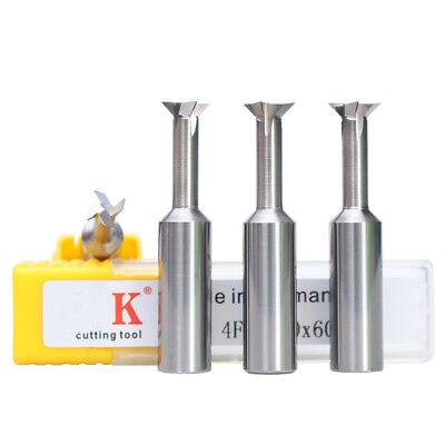 HRC55 Dovetail  Milling Cutter Solid Carbide End Mill 3mm-12mm 45°60°