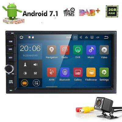 """7"""" HD Double 2Din Car Stereo Radio GPS Player Wifi Mirror Link Android 7.1 4Core"""