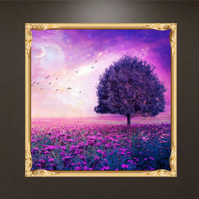 5D Diamond Painting of Butterfly and Blue Flowers Handmade Crafts Stitch Crafts
