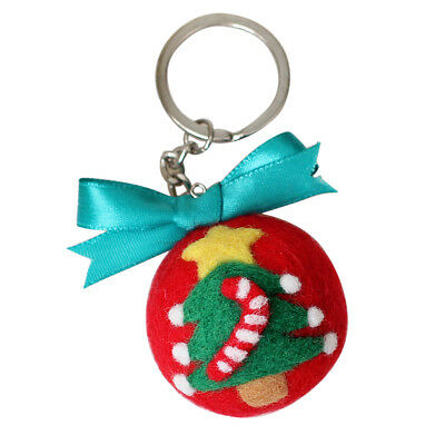 DIY Christmas Tree Keychain Needle Felting Kit For Beginners With Tools