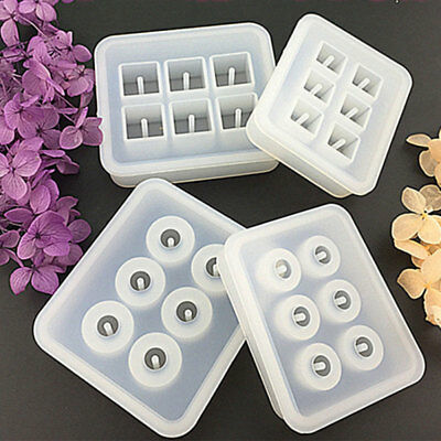 DIY Silicone Mold Pendant Making Jewelry Resin Casting Mould Gem Crafts Tool