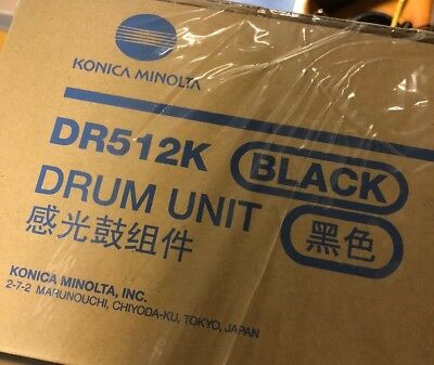 Genuine Konica Minolta Drum Unit DR512K Black Bizhub 224e A2XN-0RD - NEW
