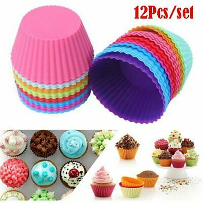 1/12Pcs 7cm Puff Mold DIY Chocolate Cake Tart Making Mould Colorful Muffin Cups
