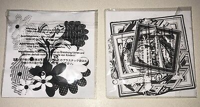 Creative Memories Black & White Paper Flowers And Black & White Paper Frames