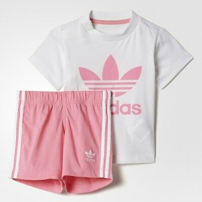 adidas Originals girls baby/infant Trefoil shorts & top set. Various sizes!