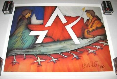 Austin-Bergstrom International Airport Ceremonial Poster, Signed, Mint, 1999