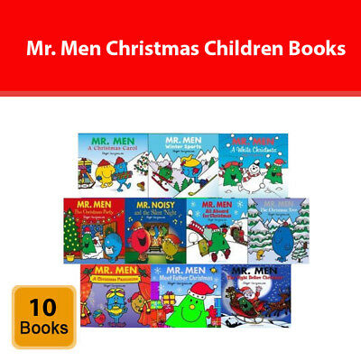 Mr. Men Christmas Children 10 collection books Set by Roger Hargreaves pack NEW