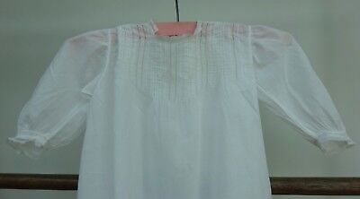 Baby Dress Night Gown Early 1900's Christening Lace Antique Embroidered
