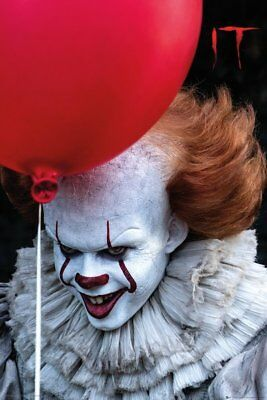 It Pennywise The Clown Balloon Stephen King 91.5X61Cm  Poster New Official