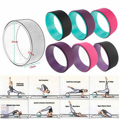 Yoga Wheel Muscle Relaxing Fitness Strength Health Comfortable Gym Prop 13""