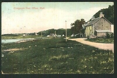Postcard -  Craignure Post Office, Mull - 1908