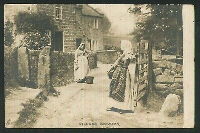 Postcard - Village Gossips, Scarinish, Tiree - Real Photo 1907