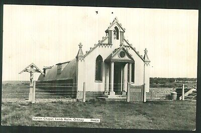 Postcard -  Italian Chapel, Lamb Holm, Orkney - Real Photo