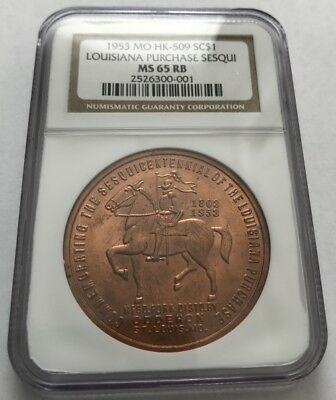 1953 MO HK-509 Louisiana Purchase Sesquicentennial SCD  / NGC MS-65 RB