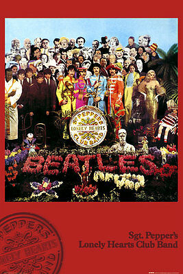The Beatles Sgt Pepper Lonely Hearts 91.5 X 61Cm Poster New Official Merchandise