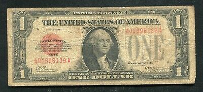 Fr. 1500 1928 $1 One Dollar Red Seal Legal Tender United States Note