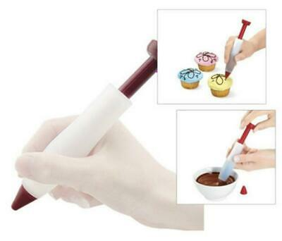 Pastry Pen Cake Chocolate Cookie Cream Icing Decorating Syringe Baking Tool FS