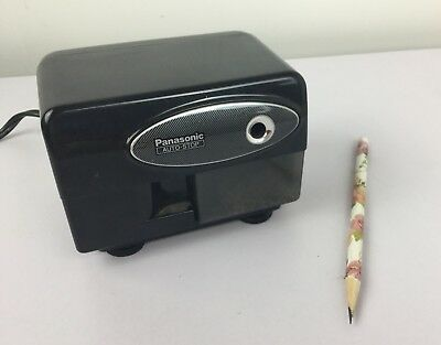 Panasonic Electric Pencil Sharpener Black KP-310 Auto Stop Tested Working